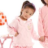 【愛的世界】純棉連帽蝴蝶釘釦長袖外套/6個月-台灣製- ★幼服推薦
