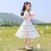 12女童洋裝洋氣夏裝小學生15中大童超仙長裙十歲女孩公主裙子潮