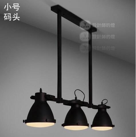 美術燈  設計師的燈現代創意吧台美式鄉村三頭碼頭  三燈小碼頭 -不含光源