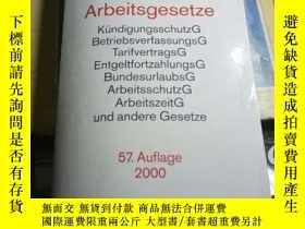 二手書博民逛書店德文原版Arbeitsgesetze:罕見Mit den wic