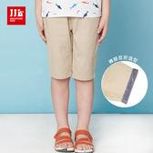 JJLKIDS 男童 小小鯊魚世界休閒短褲(卡其)