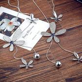 項練女歐美夸張滿?花朵水晶珍珠飾品練長版圓球流蘇項練裝飾【99狂歡8折購物節】