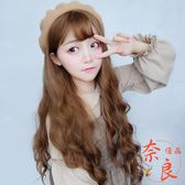 假髮女微卷長卷髮水波紋玉米燙韓國蓬松空氣劉海【奈良優品】