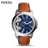 FOSSIL Grant Twist 棕色皮革手錶 男ME1161