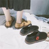 日繫娃娃鞋瑪麗珍鞋平底圓頭小皮鞋森女復古淺口女鞋春夏新款單鞋   東川崎町