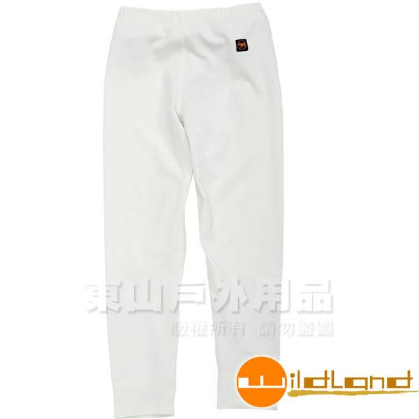 Wildland 荒野 W2681-81米白色 童 遠紅外線彈性保暖褲