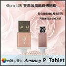 ☆Micro USB 玫瑰金編織充電線/...