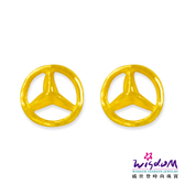 威世登 黃金流線型貼耳耳環 金重約0.17~0.19錢 送禮推薦 生日 情人節 GF00072-FXX-EHX