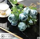 仿真花 保加利亞玫瑰花仿真花客廳擺件裝飾...