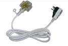 [家事達] HS-電精靈ASP-3003C 大電流動力漏電保護電源線組-6尺(防水型)延長線