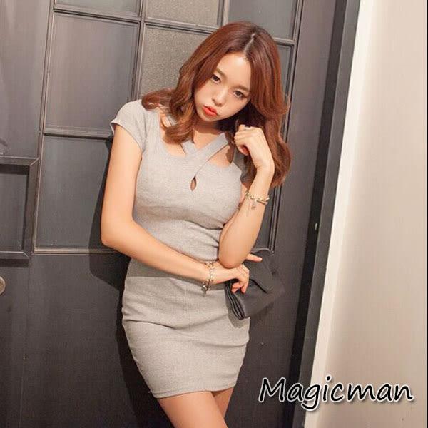 低胸性感包臀連衣裙 HP0809 ★MagicMan★現貨