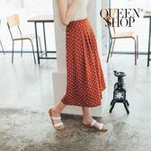 Queen Shop【04060281】滿版點點雪紡褲裙 兩色售*預購*