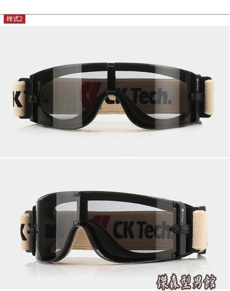 ck防護眼鏡防風防塵防霧風鏡防沖擊騎行擋風灰塵紫外線防曬護目鏡 傑森型男館