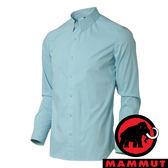 【MAMMUT 長毛象】男 CHALK COOLMAX長袖襯衫-5073『冰藍』1015-00200 襯衫 長袖 彈性伸縮 戶外 旅遊 輕便