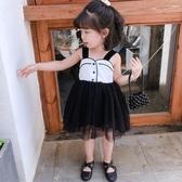 女童洋裝 女童連身裙夏季兒童蓬蓬網紗公主裙女寶寶洋氣裙子 中秋節