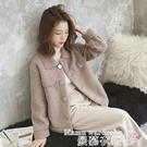 羊羔毛外套 2021年短款羊羔毛外套女冬季韓版百搭寬鬆學生加厚毛絨夾克上衣潮 交換禮物 曼慕
