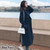 藍色巴黎 ■ 韓國時尚加厚長版毛呢外套 西裝外套 【28843】