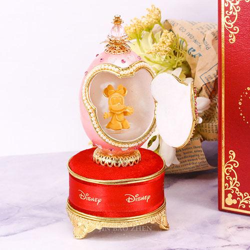 迪士尼系列金飾-黃金藝術蛋雕-成功米妮款