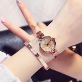 手錶女學生韓版簡約 潮流 ulzzang休閒大氣小錶盤chic復古時尚錶 俏腳丫