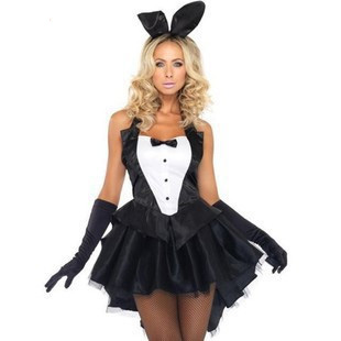 新款連體兔女郎服裝兔子裝萬圣節cosplay舞臺裝夜場酒吧ds演出服 初色家居館
