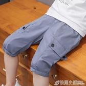 男童短褲工裝褲夏裝新款洋氣兒童休閒中褲中大童五分褲潮童裝 格蘭小舖