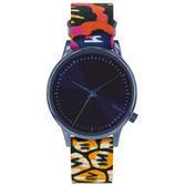 KOMONO X Vlisco Estelle系列聯名腕錶-靛藍x非洲印花