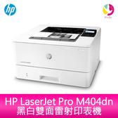 分期0利率 HP LaserJet Pro M404dn 黑白雙面雷射印表機