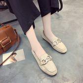 單鞋女中大尺碼新款平底鞋方頭女鞋豆豆軟皮平頭復古奶奶鞋女 js6047『科炫3C』