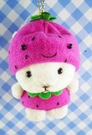 【震撼精品百貨】日本日式精品_熊_Bear~變身絨毛娃娃-熊變草莓