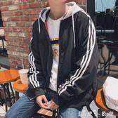 春裝帥氣連帽夾克男士寬鬆百搭運動外衣韓版學生潮流青少年薄外套 「潔思米」