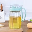 油壺家用廚房防漏油壺玻璃加蓋控油瓶醋瓶調味瓶裝醬油瓶子透明油罐