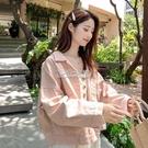 秋季新款粉色牛仔外套女裝韓版學生大碼寬鬆長袖顯瘦洋氣上衣