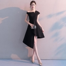 宴會晚禮服2020新款高貴優雅黑色名媛修身中長款年《蓓娜衣都》