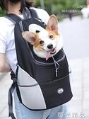 寵物狗狗胸前背包外帶出行後背外出包泰迪貓咪出門籠子便攜背帶箱 雙12全館免運