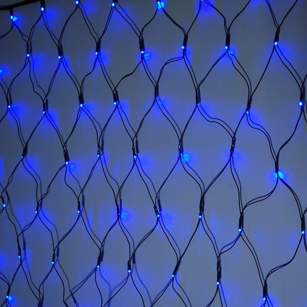 LED 128燈網燈(藍光)附控制器