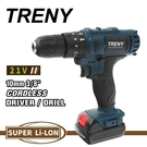 [ 家事達 ] TRENY- 2291 鋰電雙速震動起子機-21V 電鑽 起子機 維修工具 修繕 家庭DIY 居家必備 特價