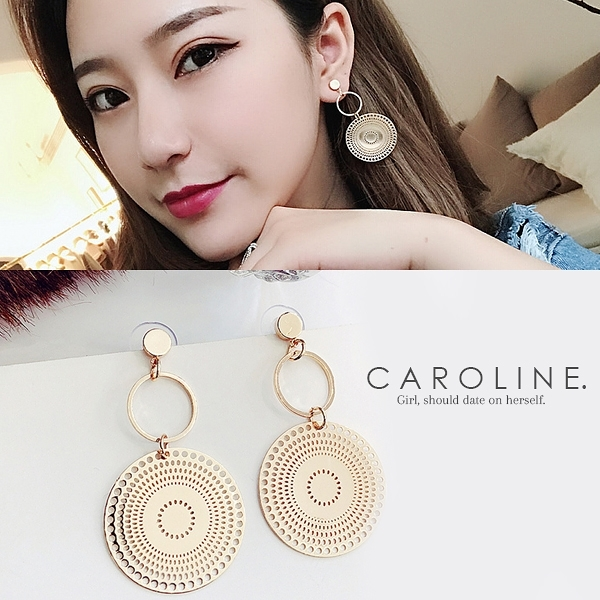 《Caroline》★韓國熱賣造型時尚優雅性感耳環70188