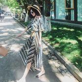 波西米亞長裙泰國旅游必備波西米亞顯瘦超仙海邊度假三亞馬爾代夫沙灘裙套裝女『櫻花小屋』
