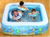 尾牙年貨 充氣游泳池家庭超大型海洋球池加厚家用大號