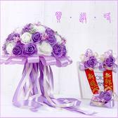 尾牙鉅惠婚禮花束 韓式新娘手捧花仿真婚禮 伴娘手工花束鮮花球結婚捧花攝影樓拍攝YYS 珍妮寶貝