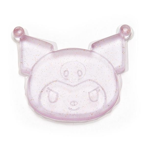 〔小禮堂〕酷洛米 造型透明矽膠粉撲《紫.亮粉》silicone puff 4901610-33472