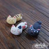 日本有田燒筷架 陶土手工制貓咪筷架筷枕筷托箸置餐具 筆架 東京衣秀