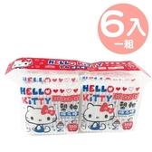 小禮堂 Hello Kitty 袋裝雙頭棉花棒 塑軸棉花棒 棉棒 淘耳棒 6包入 (紅藍 側坐) 4715664-20343