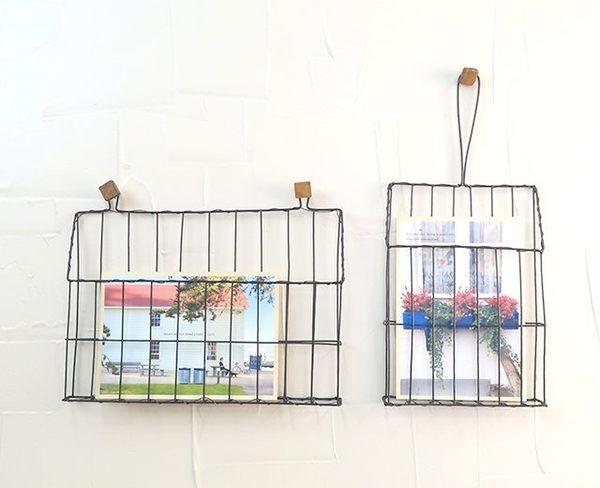 《齊洛瓦鄉村風雜貨》日本zakka雜貨 壁面裝飾鐵籃 收納照片籃 明信片展示 造型收納 居家裝飾