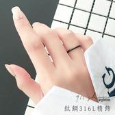 Lacuna.鈦鋼精飾。超細線戒圓弧多色素面戒指【La273】911 SHOP