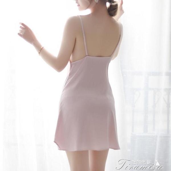 睡裙 仿真絲綢吊帶睡裙夏季緞面絲綢睡裙絲質吊帶睡衣睡裙大碼家居服女 快速出貨