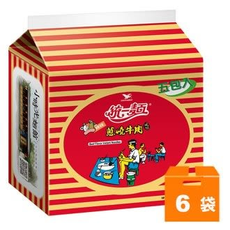 統一麵 蔥燒牛肉風味 90g (5入)x6袋/箱【康鄰超市】