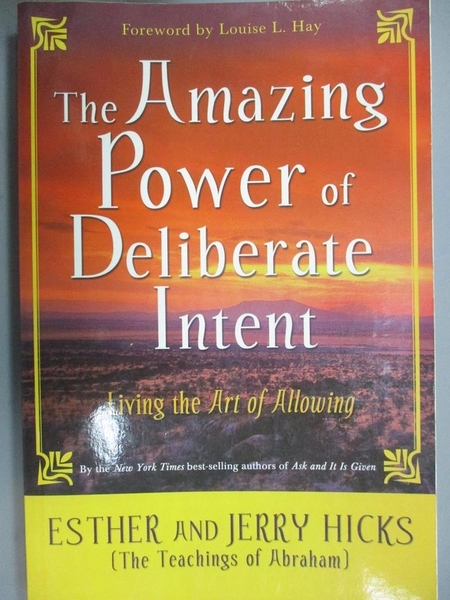 【書寶二手書T1/心理_PFI】The Amazing Power of Deliberate Intent: Living the Art…