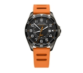 VICTORINOX 瑞士維氏 二地時間GMT 手錶 VISA-241897 亮眼橘/42mm