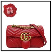 GUCCI雙G紅色小鏈包446744全新商品